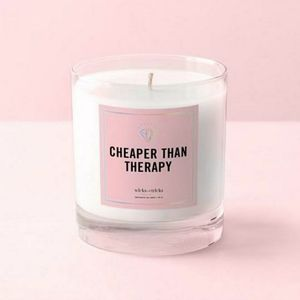 WICKS and TRICKS Cheaper Than Therapy Candle *NIB!